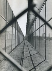 Undated photo of the double fence at Holman Prison in Atmore, Ala.