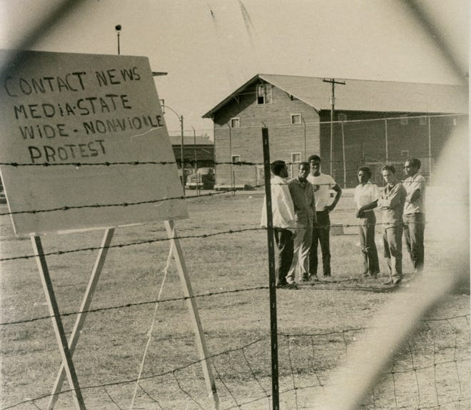 Undated photo of an apparent non-violent protest at Holman Prison in Atmore, Ala.