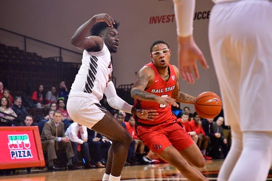 Ball State junior guard Ishmael El-Amin competes during the Cardinals' game Tuesday against Bowling Green. BSU lost against Bowling Green.