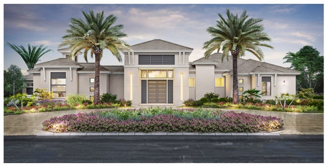 The Il Cortile by McGarvey Custom Homes is a courtyard-style residence with a detached guest cabana.