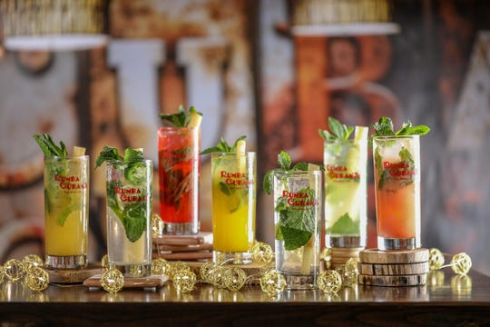 Some of the cocktails offered at Rumba Cubana