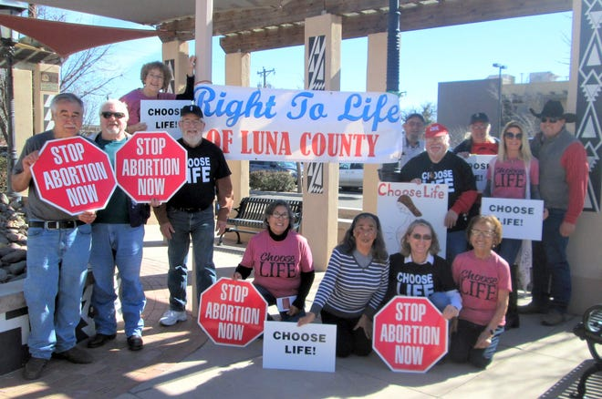 Luna County Right to Life members gathers Friday afternoon at Leyendecker Plaza in downtown Deming to bring awareness to the pro-life movement and the National March for Life held in Washington DC. The rally as held from 11 a.m. to 1 p.m.