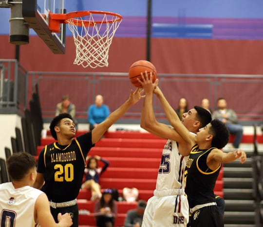 Junior Wildcat Sebastian Villezcas (25) found daylight driving toward the basket and burned the Tigers for 12 points.