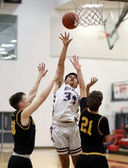 Junior Wildcat Christian Pacheco (34) led all scorers with 19 points against Alamogordo High on Tuesday.