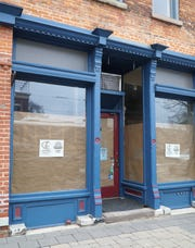Stephanie Ames plans on opening the Blue Birch Outfitters shop in this former Main Street Art location in March.