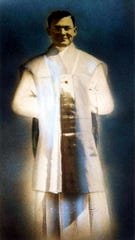 Father Joseph Verbis Lafleur for his ordination to the priesthood in 1938.