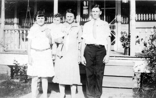 Verbis Lafleur with his sister, Antonia, his mother Agatha Dupré Lafleur and his niece Delores Sylvester at the family home on West Grolee Street in Opelousas just before he entered the seminary.