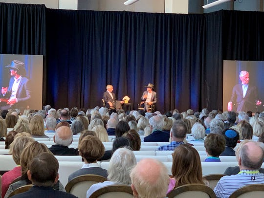 Author Jon Meacham (left) and country star (Tim McGraw) right appear at the Rancho Mirage Writers Festival on Jan. 29, 2020 in Rancho Mirage, Calif.