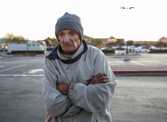Stefan Ballard, 68, tells the story of how he became homeless in Cathedral City, January 29, 2020.