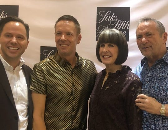 Gala honorary chairs Johnny Krupa and Steve Tobin, with Paul Clowers and Susan Stein, attended the Jan. 23 event at Saks Fifth Avenue.