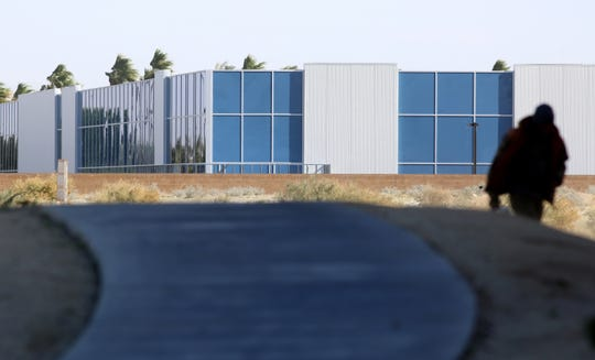 Sunniva cannabis cultivation facility in Cathedral City, Calif., is photographed on January 29, 2020. Construction of the facility is on hold due to legal disputes.