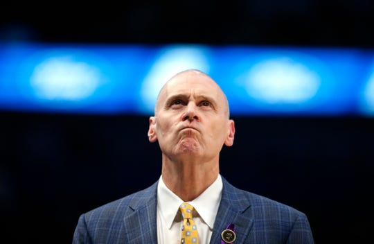 Dallas Mavericks head coach Rick Carlisle looks on as the Mavericks play the Phoenix Suns during the second half of an NBA basketball game Tuesday, Jan. 28, 2020, in Dallas. Phoenix won 133-104. (AP Photo/Ron Jenkins)