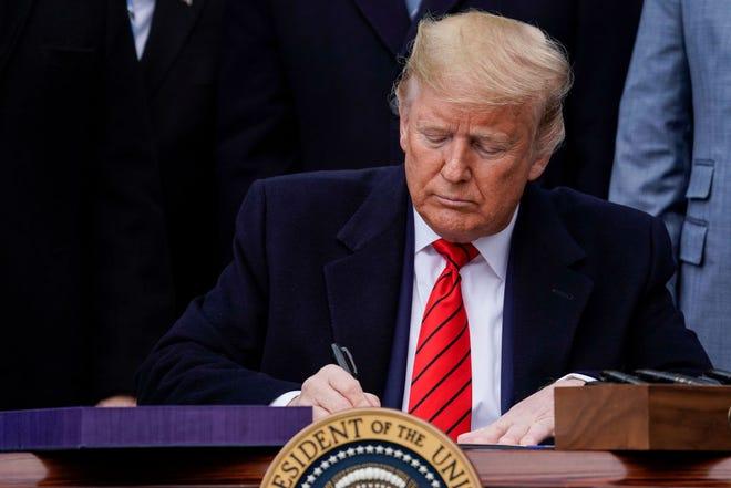 El presidente de EEUU Donald Trump ya estampó su firma en el nuevo T-MEC.