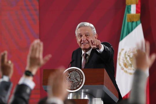 El presidente de México, Andrés Manuel López Obrador, ofrece su rueda de prensa matutina este miércoles, en el Palacio Nacional de Ciudad de México (México).