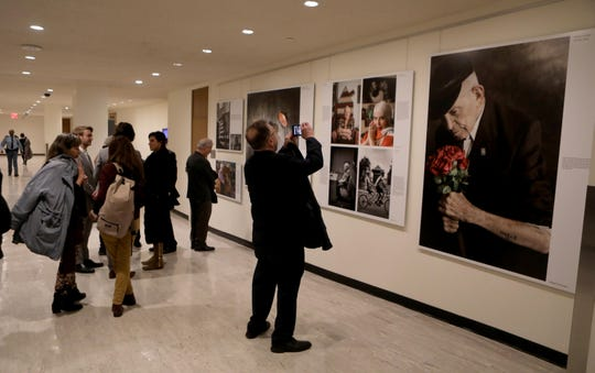 Guests attend the opening of The Lonka Project  at the United Nations on Jan. 28, 2020.