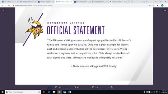 Vikings statement