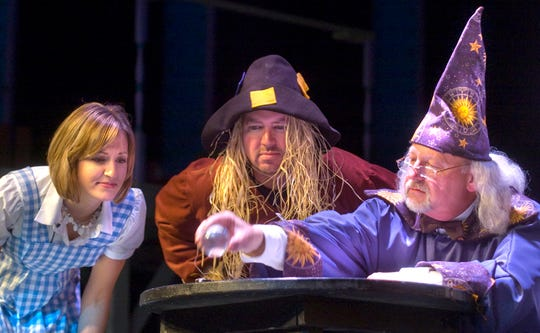 In this file photo from May 5, 2009, Common Pleas Judge Richard K. Renn, right, portrays the Wizard of Law in a Bar Stools performance.