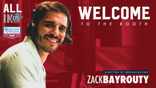 Zack Bayrouty will be the radio announcer for the Reno Aces this season.