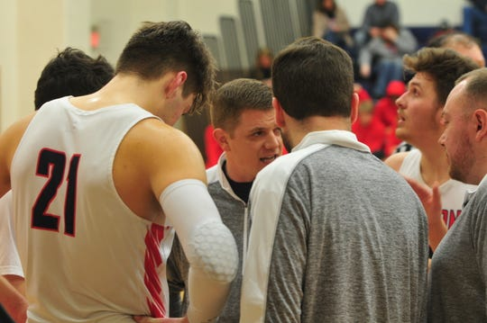 Jake Moynihan's career-high scoring night was not enough as Seton Catholic let a late lead slip away and fell to Blue River 53-50 on Tuesday, Jan. 28, 2020.