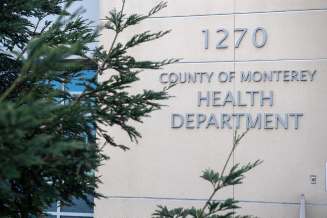 A photo taken outside the Monterey County Health Department on Jan. 29, 2020.
