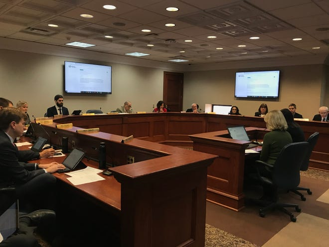 Jennifer Lahl, president of the Center for Bioethics and Culture, and former surrogate mother Kelly Martinez testify against commercial surrogacy before the House Judiciary Committee on Wednesday.