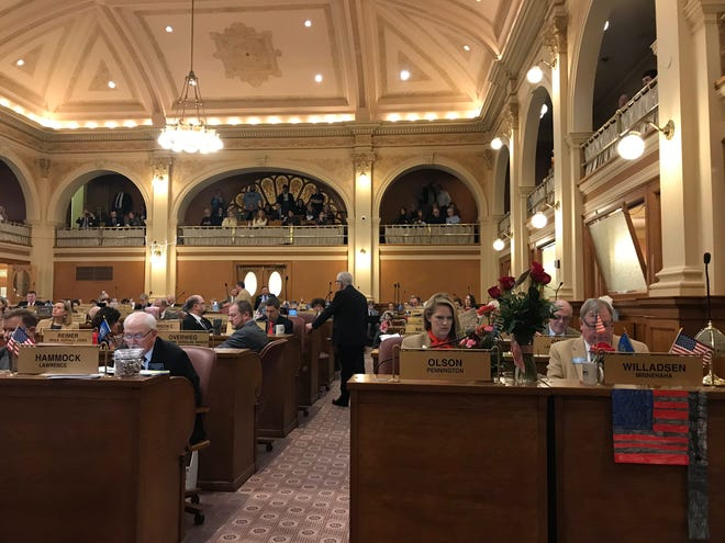 Rep. Fred Deutsch, R-Florence, addresses the House on Wednesday, Jan. 29 regarding House Bill 1057, which would criminalize certain treatments of transgender children under 16.