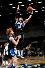 Andrew Rowsey, a former Rockbridge County basketball star, is playing in the NBA G League for the Lakeland Magic.