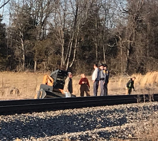 Authorities said a Crimora man was killed Wednesday at a train crossing.