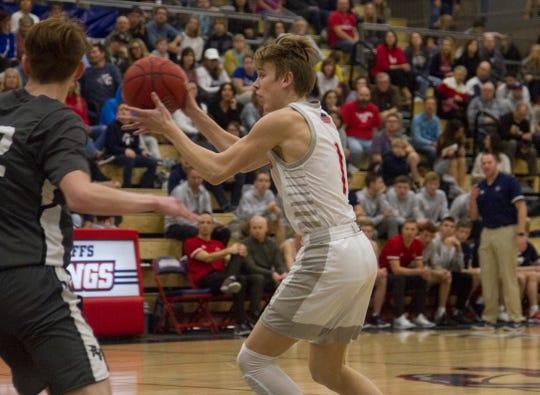 Crimson Cliffs junior guard Trei Rockhill during a game against Pine View High School Tuesday, Jan. 28, 2020.