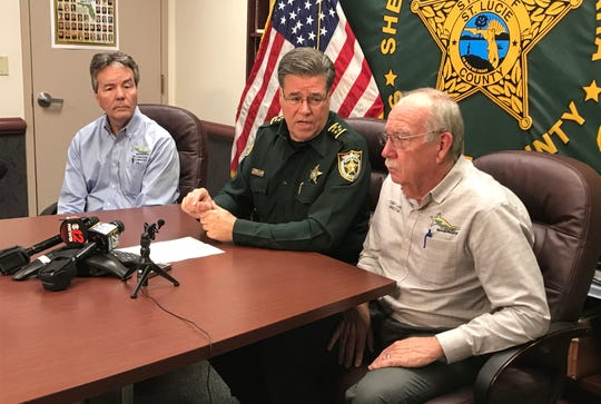 John Hammond, sheriff's IT manager (left); Sheriff Ken Mascara (center); Toby Long, sheriff's director of professional services