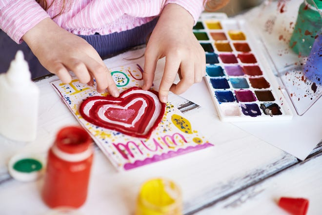 You can create your own Valentine's cards or buy some premade inexpensive ones to send your message of love and gratitude.