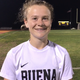 Buena High senior midfielder Taylin Butterbaugh scored the lone goal of a 1-0 win over host Oxnard on Jan. 28, 2020.