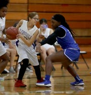 Saunders defeated Lincoln 62-39 in a varsity girls basketball game at Lincoln High School in Yonkers Jan. 28, 2020. High scorers for Saunders were Mojisola Shokeye with 19 points, Valbona Metaliaj with 14 points, and Chelsea Ogyiri with 12 points.