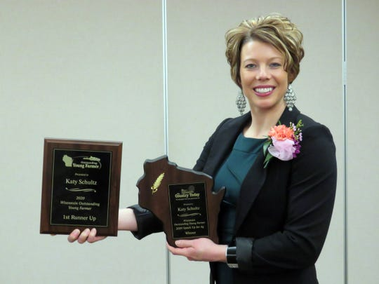 Katy Schultz, of Fox Lake, was the Wisconsin Outstanding Young Farmer 1st runner up and the Speak Up for Agriculture award winner during an awards event held in Chippewa Falls, Jan. 24-26, 2020.