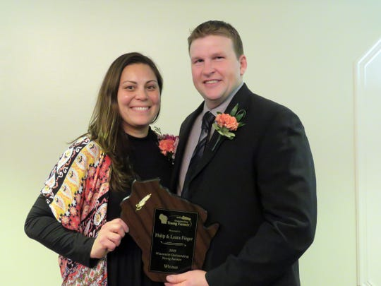 Philip and Laura Finger, of Oconot, were chosen as the 2020 Wisconsin Outstanding Young Farmer of the Year during an awards event on Jan. 24-26 in Chippewa Falls.