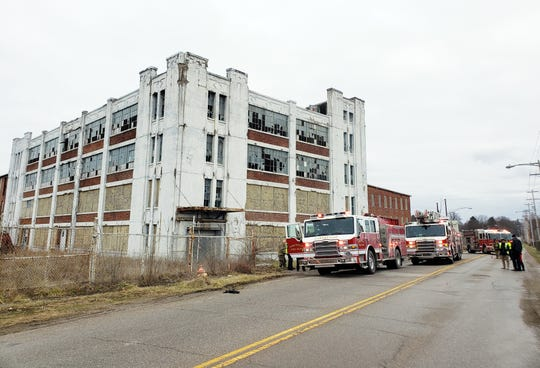 The Zanesville Fire Department extinguished a burning pallet in the former Mosiac Tile building on Pershing Road on Wednesday. The fire was believed to have been started by someone seeking shelter, with no malicious intent.