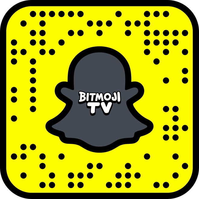 Take a picture of this code to checkout Bitmoji TV.