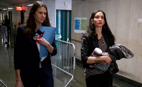 Elizabeth Entin, right, a witness in the Harvey Weinstein sex-crimes trial, with Assistant District Attorney Meghan Hast on Jan. 28, 2020 in New York.