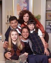 """A photo from the short-lived """"Tony Danza Show.""""(clockwise from left) Shaun Weiss, Maria Canals, Ashley Malinger, Tony Danza, Majandra Delfino"""