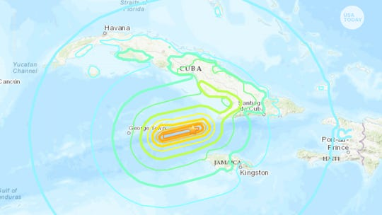 7.7 magnitude earthquake shakes up the Caribbean Sea between Jamaica and Cuba, reaches Miami