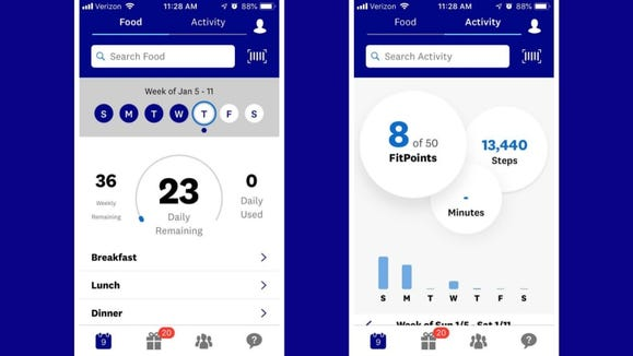 You track everything you eat and drink, as well as your workouts on the app or website.