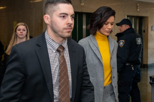 Model and former actress Tarale Wulff arrives to testify in the sex-crimes trial of Harvey Weinstein on Jan. 29, 2020 in New York City.