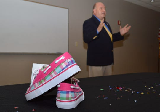 Willie Harp talks about A Perfect Fit Foundation, the nonprofit he started to buy shoes for needy school children, in 2013.