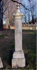An Oviatt family headstone in Allegany, New York.