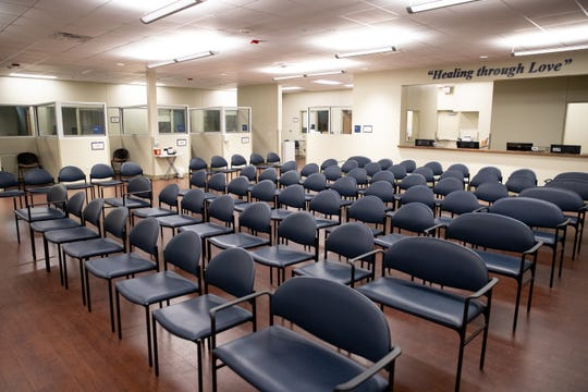 The waiting room in Mission of Mercy during an open house on Thursday, Jan. 30, 2020.