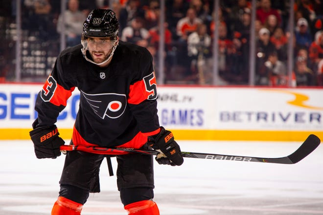 Shayne Gostisbehere is almost ready to return to the Flyers' lineup after having arthroscopic knee surgery two weeks ago.