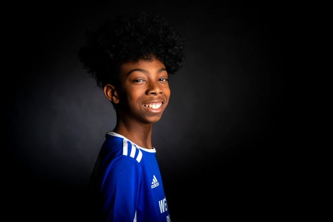 Arlando Griffin,11, of West End, poses for a portrait in The Enquirer studio in downtown Cincinnati on Thursday, January 30, 2020.