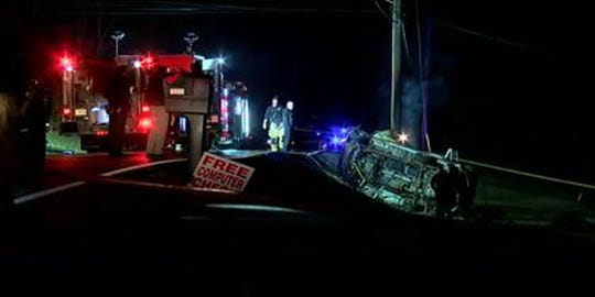 One person is dead in a car crash in Independence, according to the Kenton County deputy coroner.