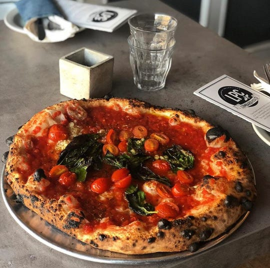 Among the pizza varieties at Lombardi Pizza Co. in Martinsville, Bridgewater is the Millie — a vegan pizza comprised of the house tomato sauce, grape tomatoes, garlic, oregano and basil.