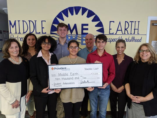 A $10,000 Major Grant from The Provident Bank Foundation was presented to the 4-H/Middle Earth Student Ambassadors for Community Health by the foundation's Executive Director Jane Kurek, along with Samantha Plotino, associate executive director of The Provident Bank Foundation and Vanda Ferreira, FVP/market manager of Provident Bank.